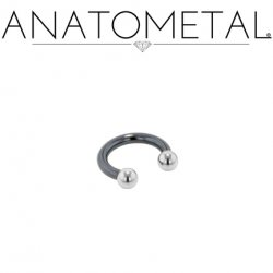 Anatometal Niobium Circular Barbell With Steel Ball Ends 16 Gauge 16g