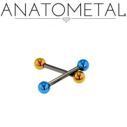 Anatometal Niobium Straight Barbell 16 Gauge 16g
