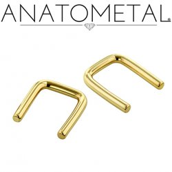 Anatometal 18kt Gold Septum Retainer 16 Gauge 16g