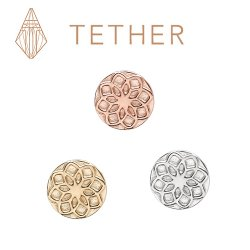 "Tether 14Kt Gold Round Star Threadless End 25g Pin (will fit 18g, 16g, 14g Universal Threadless Posts) ""Press-fit"""