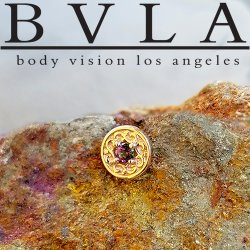 "BVLA 14kt Gold ""Elizabeth"" Threadless End 18g 16g 14g ""Press-fit"""