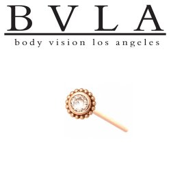 "BVLA 14Kt Gold 6mm Beaded ""Choctaw"" Nostril Screw Nose Bone 20g 18g Body Vision Los Angeles"
