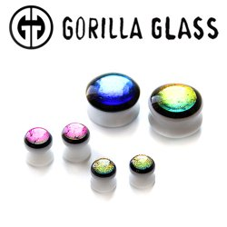"Gorilla Glass ""Run The Jewels"" Double Flare Plugs 0 Gauge to 2"" (Pair)"
