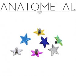Anatometal Titanium Threaded Star End 18g, 16g, 14g, 12g