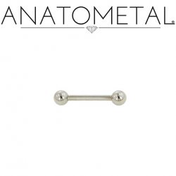 Anatometal Surgical Steel Straight Barbell 14 Gauge 14g