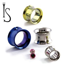 Industrial Strength Titanium Double Flared Eyelet 8g - 1""