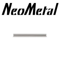 "12 Gauge 12g NeoMetal Threadless Titanium Barbell Shaft ""Press-fit"""