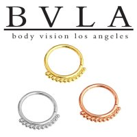 "BVLA 14kt Gold ""Latchmi"" Nose Nostril Septum Seam Ring 20 Gauge 20g Body Vision Los Angeles"