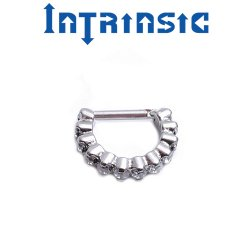 "Intrinsic Body Titanium ""Radiance"" Clicker Nose Septum Helix Daith Ring 20 Gauge 18 Gauge 20g 18g"