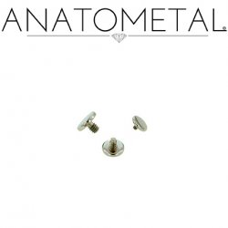 Anatometal Titanium Threaded Disk Flat Back End 18g 16g 14g 12g