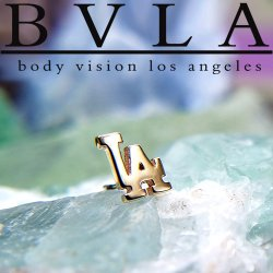 "BVLA 14kt & 18kt Gold ""City Life LA"" 5.5mm Threadless End 18g 16g 14g ""Press-fit"""