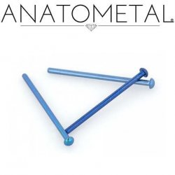 Anatometal Titanium Dome Nostril Screw Nose Ring 20 Gauge 18 Gauge 20g 18g