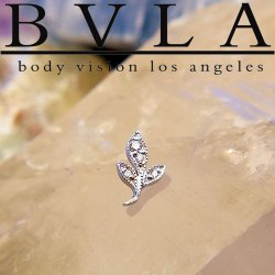 "BVLA 14kt & 18kt Gold ""Mini Wisteria"" Threaded End 18g 16g 14g 12g Body Vision Los Angeles"