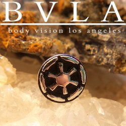 "BVLA 14Kt Gold ""Empire Cog"" Threadless End 18g 16g 14g ""Press-fit"""