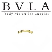 BVLA 14kt Gold Curved Barbell (Shaft Only) 14 Gauge 14g Body Vision Los Angeles
