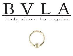 BVLA 14kt Gold Fixed Bead Ring 20 gauge 14 karat 20g Body Vision Los Angeles