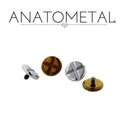 Anatometal Titanium Phillips Head Threaded Disk 18g 16g 14g 12g 10g