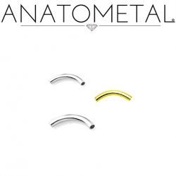 Anatometal Titanium Curved Barbell (Shaft Only, No Ends) 16g 14g 12g