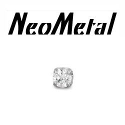 "16 Gauge 16g NeoMetal Threadless Titanium 2.0mm Prong-Set Genuine Diamond End ""press-fit"""