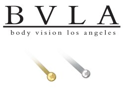 BVLA 14kt Gold Ball Nostril Screw Nose Bone Nail Stud 20g 18g Body Vision Los Angeles
