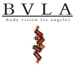 "BVLA 14kt & 18kt Gold ""Genesis"" Threaded End 18g 16g 14g 12g Body Vision Los Angeles"