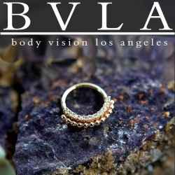 "BVLA 14kt & 18kt Gold ""Aria"" Nose Nostril Septum Ring 18 Gauge 18g Body Vision Los Angeles"