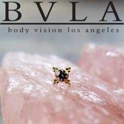 "BVLA 14kt Gold ""Mini Kandy"" Nostril Screw Nose Bone Ring Stud Nail 20g 18g 16g Body Vision Los Angeles"