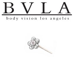 "BVLA 14kt Gold ""Buttercup"" with 1.5mm Gem Nostril Screw Nose Bone Ring Stud Nail 20g 18g 16g Body Vision Los Angeles"