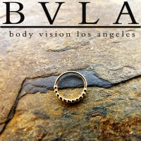 "BVLA 14kt & 18kt Gold ""Oaktier"" Septum Nose Daith Ring 20 Gauge 20g Body Vision Los Angeles"