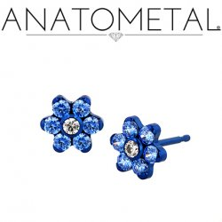 Anatometal Titanium 5.5mm Flower Earrings (Pair)