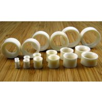 "Water Buffalo Bone Organic Eyelets Double Flared Tunnels 6g - 1"" (Pair) 4mm - 17.5mm"