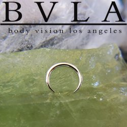 "BVLA 14kt & 18kt Gold ""Pincher"" Nose Nostril Septum Ring 16g Body Vision Los Angeles"