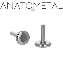 "Anatometal Titanium Threadless Universal Flatback Disk Labret Post Stud Lip Ring 16 Gauge 16g (Accepts Only 25g Pin Threadless Ends) ""Press-fit"""