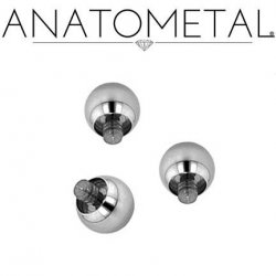 Anatometal Surgical Steel Threaded Ball End 0g 0 Gauge