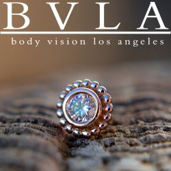 "BVLA 14kt & 18kt Gold ""Beaded Choctaw"" 5mm Nostril Screw Nose Bone 20g 18g Body Vision Los Angeles"