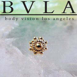 "BVLA 14kt & 18kt Gold ""Ares"" Threaded End 18g 16g 14g 12g Body Vision Los Angeles"