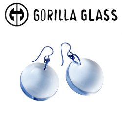 Gorilla Glass Solid Eclipse Earrings (Pair)
