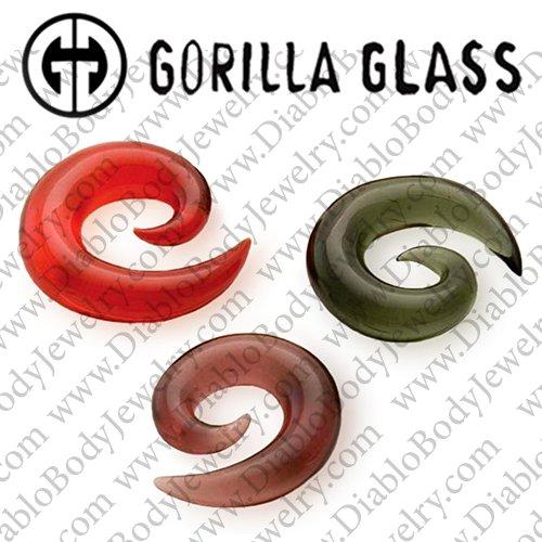 6g Crystal Pair of Glass Spirals