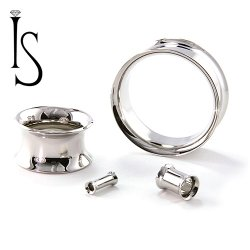 Industrial Strength Stainless Surgical Steel Double Flared Eyelet 8g to 2""