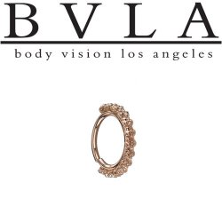 "BVLA 14kt Gold ""Milo"" Seam Ring (Navel Oriented) 16 Gauge 16g Body Vision Los Angeles"
