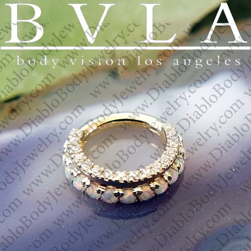 Bvla 14kt 18kt Gold Mandalay Septum Daith Clicker Nose Ring 1mm 1 5mm Gems 16 Gauge 16g Body Vision Los Angeles 36 0049 R 16xx Mandalay 1 167 50 Diablo Body