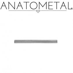 Anatometal Surgical Stainless Steel Internally Threaded Straight Barbell (Shaft Only, No Ends) 6 Gauge 6g
