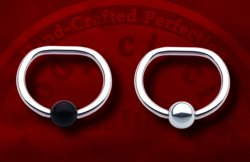 Body Circle Surgical Steel Captive Bead D-Ring 18 Gauge 18g