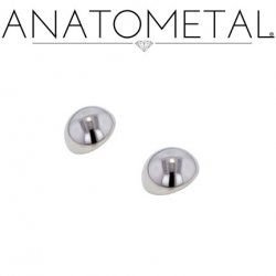 Anatometal Titanium Threaded Dome End 0 Gauge 0g