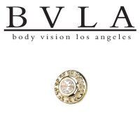 "BVLA 14kt & 18kt Gold ""Tiny Nanda VS Diamond"" Threadless End 18g 16g 14g ""Press-fit"""