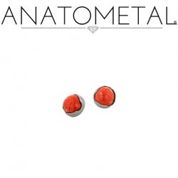 Anatometal Titanium Threaded 2mm Prong-Set Cabochon Gem End 18 Gauge 16 Gauge 14 Gauge 12 Gauge 18g 16g 14g 12g