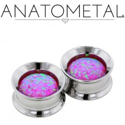 "Anatometal Stainless Surgical Steel Floating Stone Eyelet 2g, 0g, 00g, 7/16"", 1/2"", 9/16"", 5/8"", 11/16"", 3/4"", 7/8"", 1"""