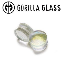 "Gorilla Glass Crystal Dichroic Plugs 2 Gauge to 1"" (Pair)"