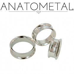 Anatometal Surgical Steel Double Flare Eyelet 8g - 2""