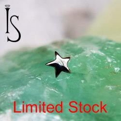 IS Limited Stock Titanium Threaded Star 4mm 18 Gauge 16 Gauge 18g 16g
